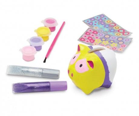 Kreativni set   štedna kasica za oslikavanje 62 dijela Piggy Bank