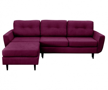 Hortensia  Purple Kihúzható  Baloldali  Sarokkanapé