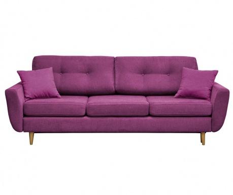 Rosa  Purple Háromszemélyes Kihúzható Kanapé