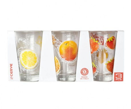 Set 3 pahare Nadia Tonic 310 ml