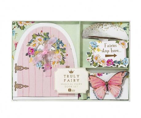 Zestaw 3 dekoracje stołowe i 3 kartki życzeniowe z akcesoriami Fairy Door