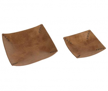 Set 2 platouri decorative Tidy Brown