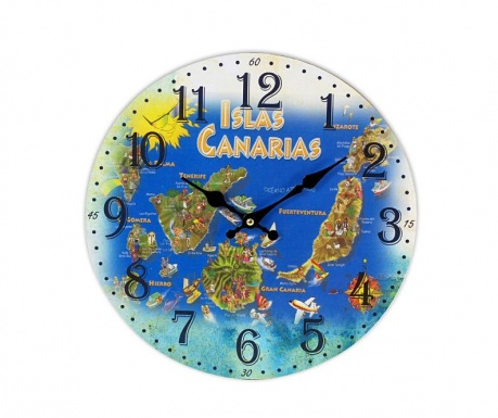 Nástěnné hodiny Canary
