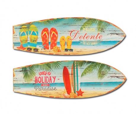 Sada 2 nástěnných dekorací Holiday Surf