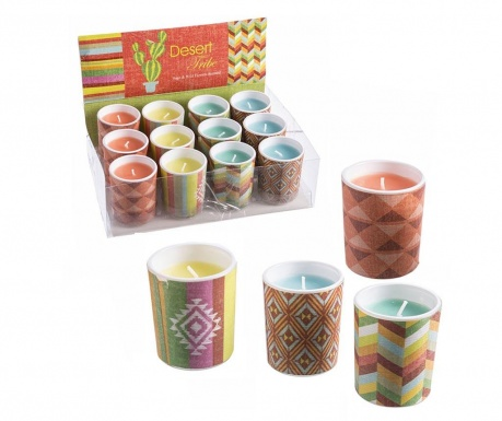 Set of 4 scented candles Desert Tribe