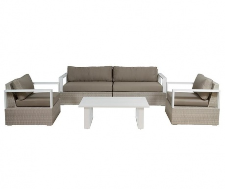 Set of 4 outdoor furniture pieces Marie