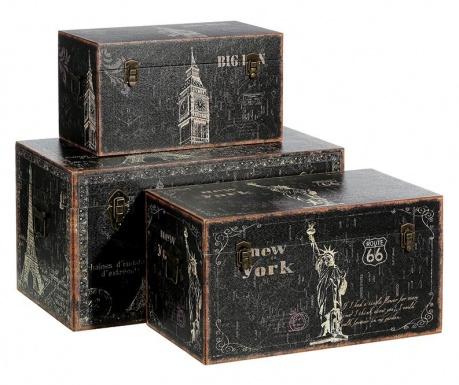 Zestaw 3 kufrów Monuments