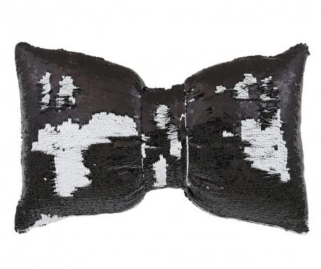 Dekoračný vankúš Black and White Bow 30x50 cm