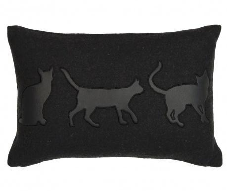 Dekoračný vankúš Cats Silhouette 30x45 cm