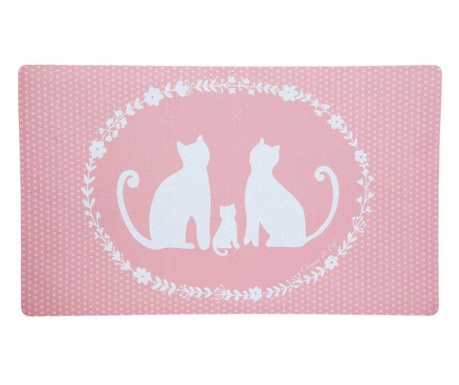 Rohožka Cat Family 44x73 cm
