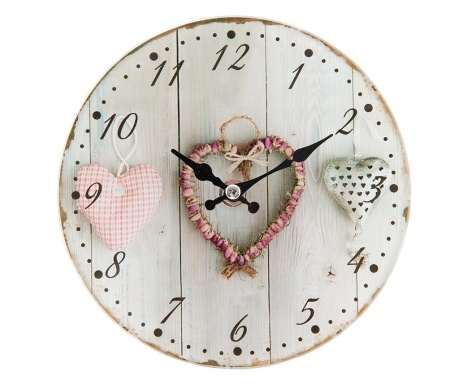 Zegar ścienny Hearts