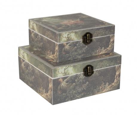 Zestatw 2 pudełek z pokrywką Meadow
