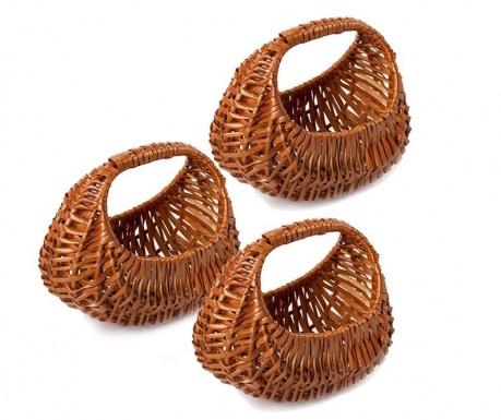 Set of 3 baskets Gondolina