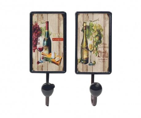 Set of 2 hangers Wine