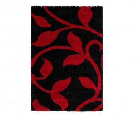 Koberec Flowers Black Red