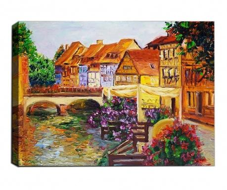 Small Town 3D Kép 50x70  cm