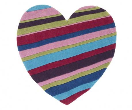 Koberec Hong Kong Striped Heart 90x90 cm