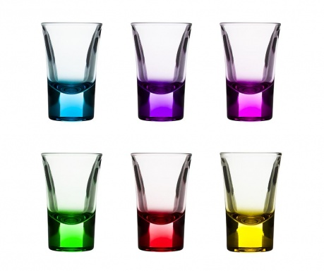Set of 6 shot glasses Glam