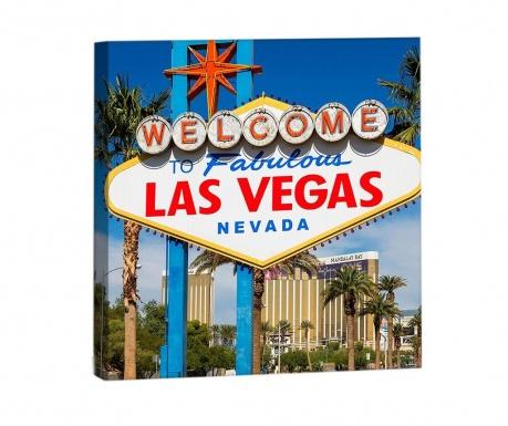 Obraz Welcome Las Vegas 33x33 cm