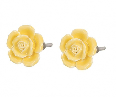 Sada 2 knoflíků na zásuvku Yellow Rose