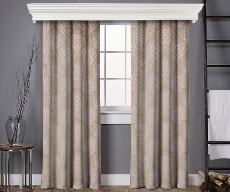 Set of 2 drapes Anisa Beige and Pink 145x260 cm