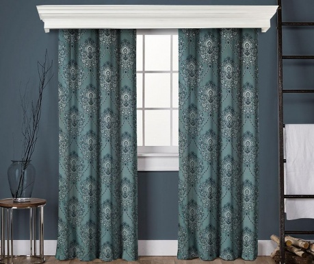 Set of 2 drapes Anisa Blue 145x260 cm