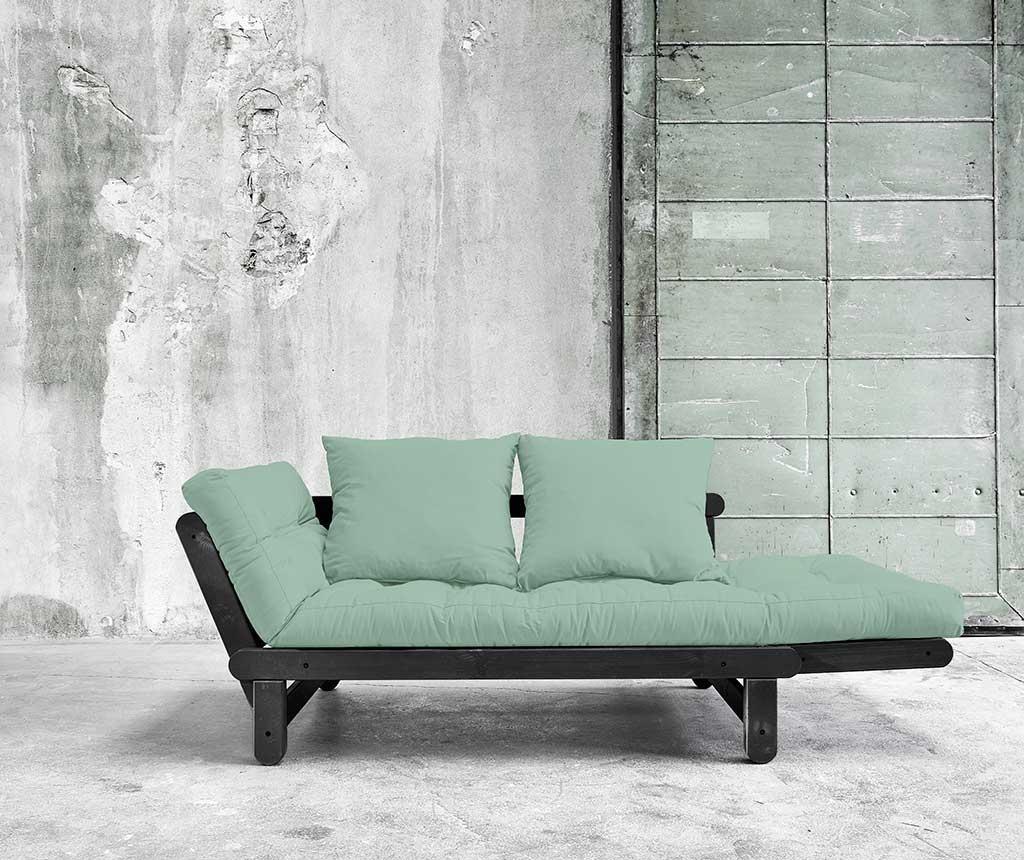 Sofa extensibila Beat Black and Peppermint