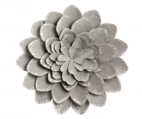 Decoratiune de perete Grey Flower