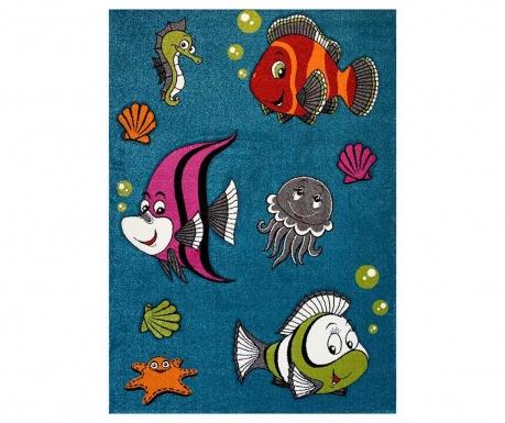 Covor Diamond Kids Fish Turquoise
