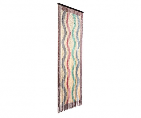 Záclona na dvěře Waves 90x200 cm