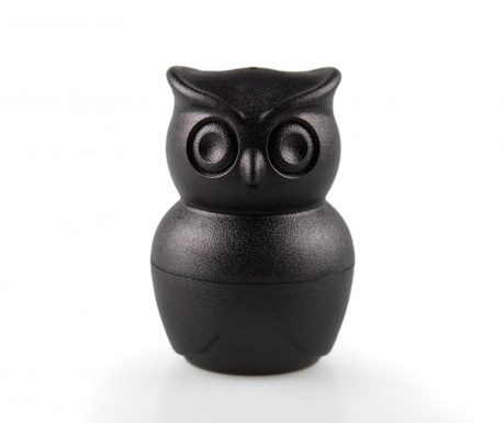 Morning Owl Black Sószóró, borsszóró és  főtt tojás tartó