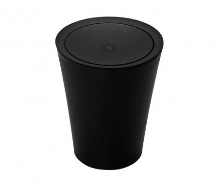 Cos de gunoi cu capac Flip Round Black 2 L