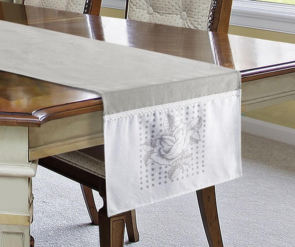 Traversa de masa Annet White Grey 40x140 cm