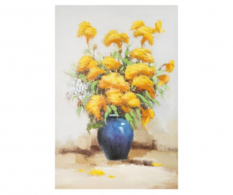Tablou Yellow Flowers in Vase 60x90 cm