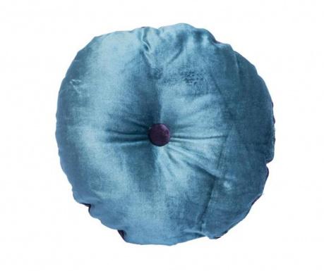 Okrasna blazina Mignon Velvet Round Blue Purple 30 cm