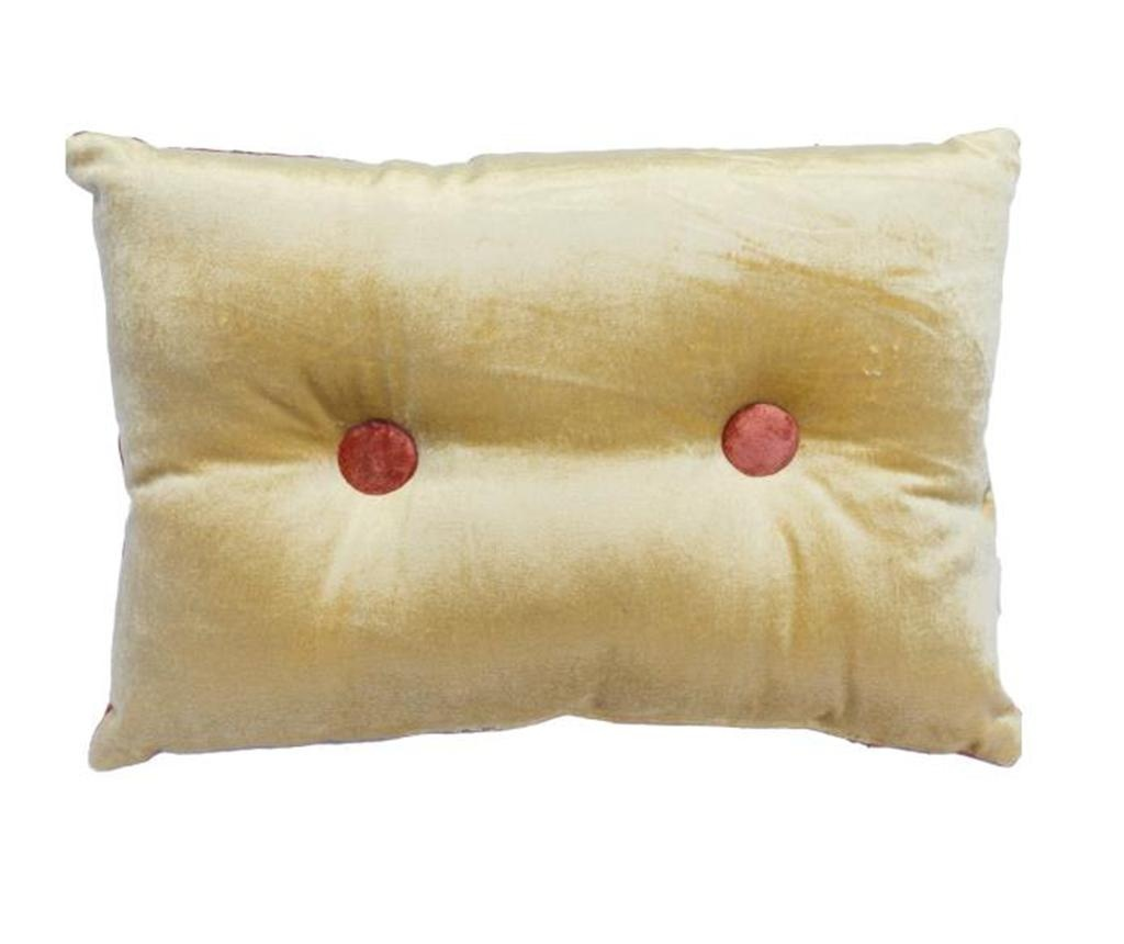 Perna decorativa Mignon Velvet Gold Red 25x35 cm