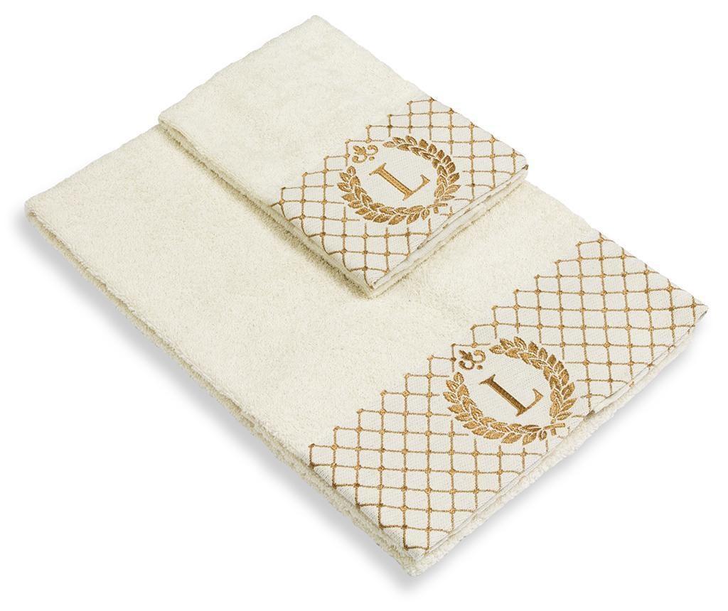 Set 2 kupaonska ručnika Monogram L