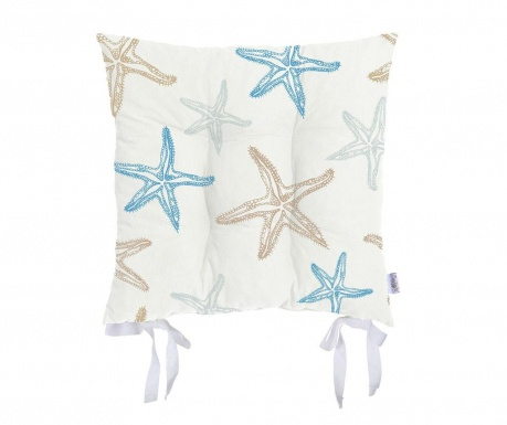 Poduszka na siedzisko Starfish Blue 37x37 cm
