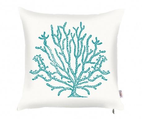 Poszewka na poduszkę Coral Tall White Blue 43x43 cm