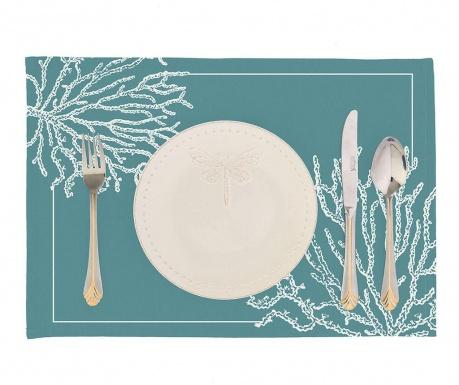 Zestaw 2 podkładek stołowych Corals Blue 33x45 cm