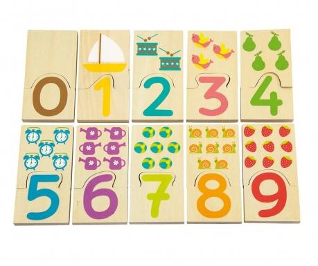 Joc tip puzzle 20 piese Insert Numbers