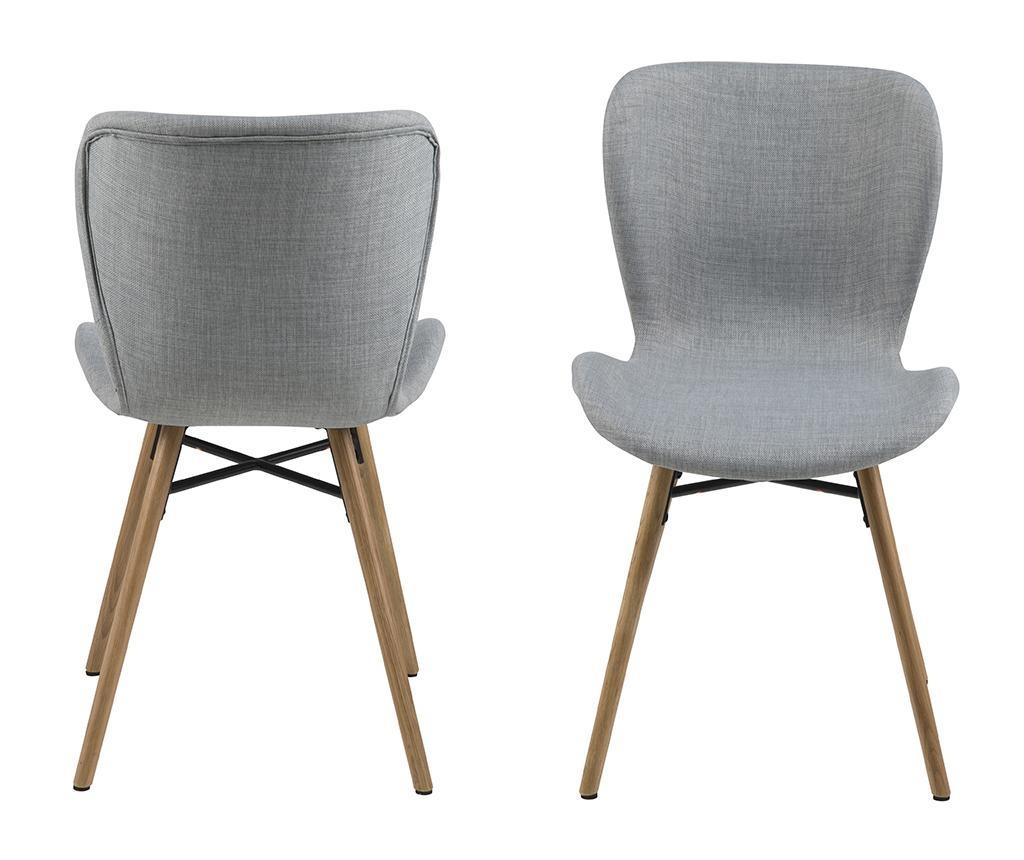 Zestaw 2 krzeseł Batilda Light Grey