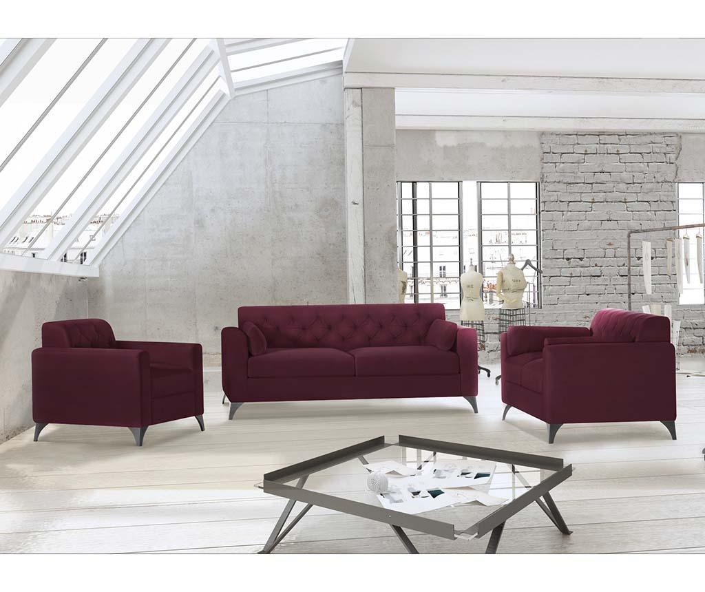 Canapea 3 locuri Vanity Crimson
