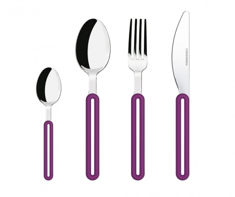 4-delni jedilni pribor Offset Purple