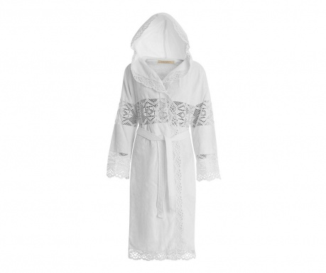Dámsky župan Lacy Hooded White