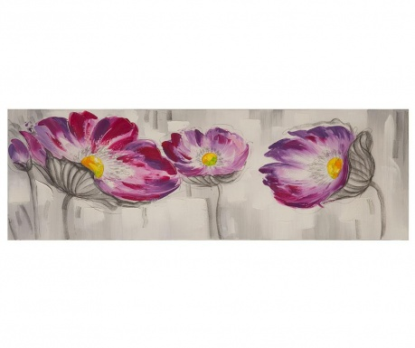 Obraz Flowers Colored 50x150 cm