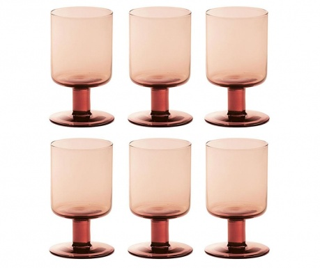 Set 6 čaša  za vino Liquify Pink 200 ml