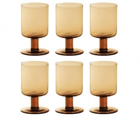 Сервиз 6 чаши за вино Bloom Orange 200 мл
