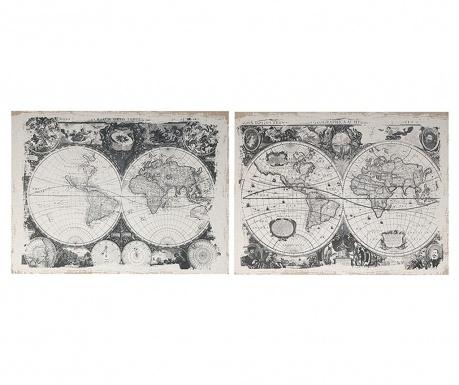 Set 2 slike Mapamond 60x80 cm