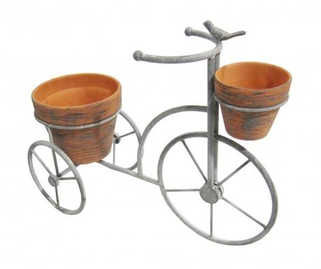 Držač s  2 posude za cvijeće Triciclo Double